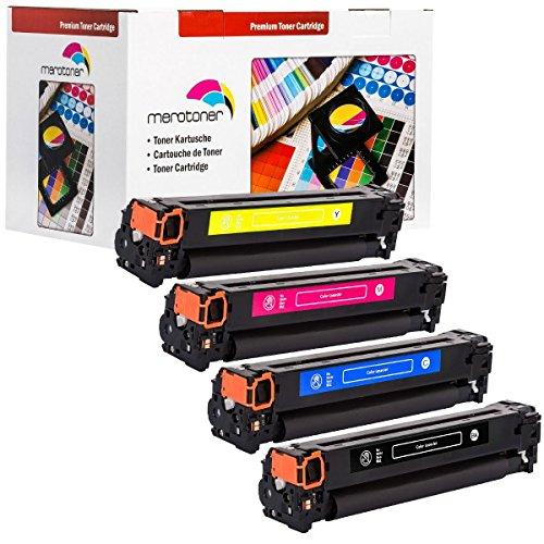 Toner / Drucker-Patronen 4er Pack kompatibel für HP Color LaserJet (125A) CB540A...