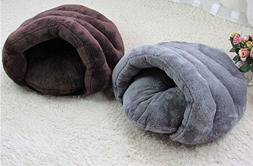 Myfei reg; Pet Cave Bed Sleeping Bag Plush Pouch Burrow Cushion Cute Dog Cat Kitten Warm Comfortable Mat Cozy House… 8