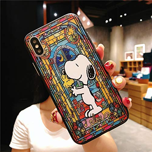 Apple Phone Case Anti-Fall Für iPhone Xmax XR XS X 7 8plus Niedliche Cartoon-Skulptur Snoopy TPU Shell All-Inclusive-Schutzhülle,Figure4,iPhone7/8