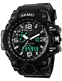 Xotak Analogue + Digital Multifunctional Stainless Steel Outdoor Black Dial Sports Watch, Army Watches for Mens & Boys