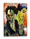 Printed Paintings Leinwand (40x60cm): Ernst Ludwig Kirchner - Selbstportrait Doppeltes Portrait
