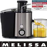 Melissa 16230026 Entsafter, Gemüsesaft,Edelstahl, mit Saftbehälter, Für Obst und Gemüse, 400...