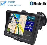 AWESAFE Bluetooth Navigation für Auto LKW PKW GPS Navi 7 Zoll Navigationsgerät, unterstützt lebenslang kostenl