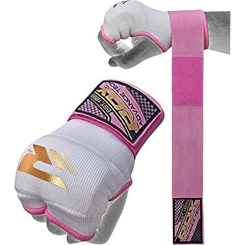 RDX Mujeres Cinta Boxeo Vendas Mano Muñeca Elasticas Interiores Guantes MMA Envolturas Vendaje Kick Boxing