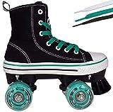 Hype Rollschuhe für Mädchen und Jungen MVP Kinder Unisex Quad Rollschuhe mit High Top Schuh Stil für Indoor/Outdoor