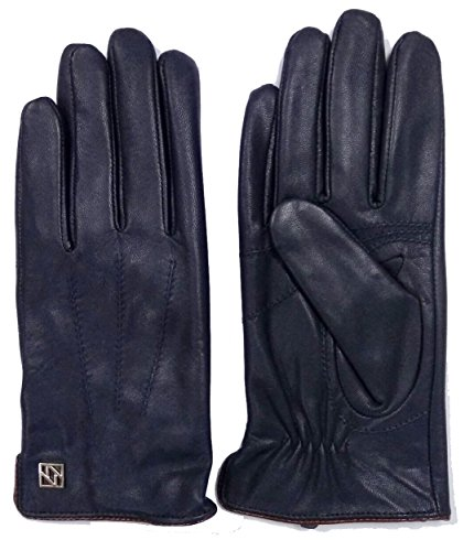 NappaNovum Mens Nappa Leather Gloves with Warm Lining Classic Lambskin Winter Warm Touchscreen Gloves