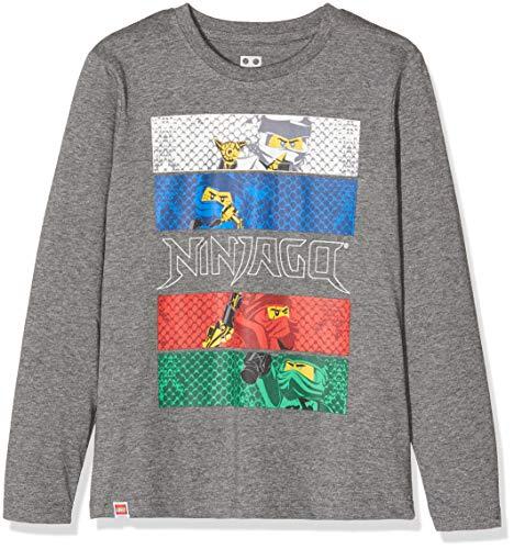 LEGO Jungen CM-50407-T-SHIRT L/S Langarmshirt, Grau (Light Grey 905), (Herstellergröße: 128)