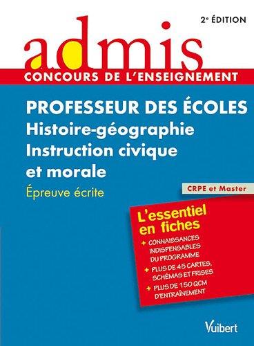 Concours professeur des écoles his/géo-instruction civique et morale