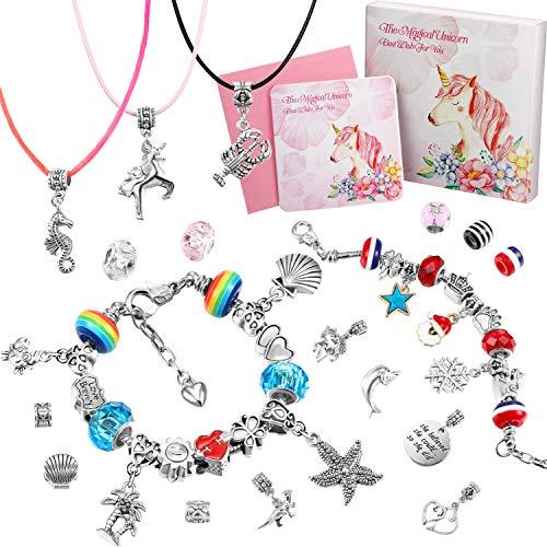 DIY Charming Bracelet Making Kit, Handwerk Schmuck Herstellung Lieferungen Perlenschmuck Geschenk Set für Mädchen Teens