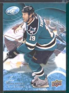 2009 10 Upper Deck Ice Hockey Card # 53 Joe Thornton Sharks
