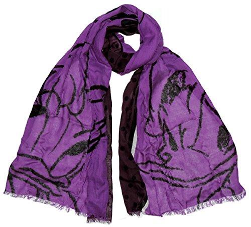 Pashmina sciarpa donna primavera disney paperina paperino leggera in viscosa stola foulard primavera