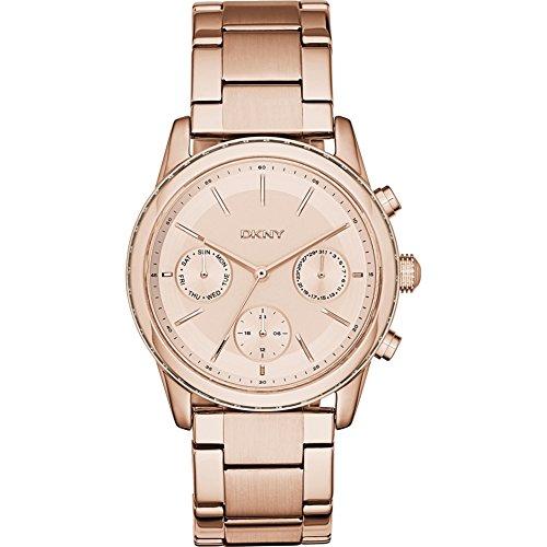 DKNY Damen-Armbanduhr Analog Quarz Edelstahl NY2331