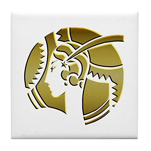 CafePress - Golden Art Deco Lady - Fliesenuntersetzer, Getränke-Untersetzer, Kleiner Untersetzer -