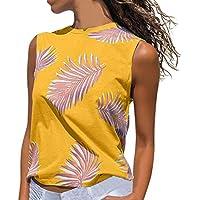 OPAKY Camiseta sin Mangas con Estampado de Mujer Camiseta de Manga Blusa Chaleco Camisetas Sin Mangas Ocasionales Flojas Blusa Atractiva Camiseta Tapas de Verano Primavera para Mujeres
