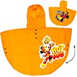 Unbekannt Regencape / Regenponcho -  Disney - Mickey Mouse - GELB  - Gr. 98 - 104 - Circa 3 bis 4 Jahre - für Kinder - Mädchen & Jungen / Regenjacke / Regenmantel - f..