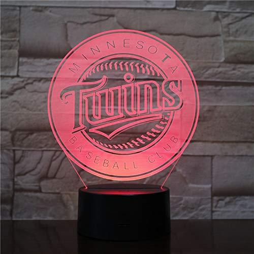 Kind Kaiserin Kostüm - laoniebaozhuang Optische Täuschung 3D Nachtlicht Led Lampe Acryl Stereoscopic Colourful Lamp Gradient Lamp Baseball, Team Logo, Kostüm-Modell Geschenk