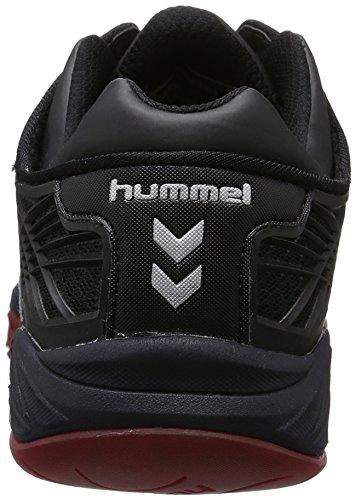Hummel Unisex-Erwachsene Omnicourt Z8 Hallenschuhe Schwarz (Black/Red)