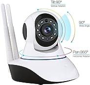Kablosuz Wifi İp Kamera 1080P Full HD 3 MP Hareketli Kamera Gece Görüşlü Beyaz