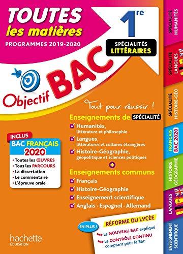 1re Enseignements communs + Spécialités Lettres-Langues-Histoire-géo BAC 2020