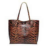 Produp Mode Mode Frauen Leder Quaste Hasp Tiger Muster Umhängetasche Handtasche ToteSchoolbag Rucksack Umhängetasche