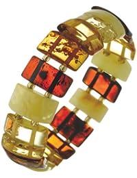 Nature d'Ambre - 3180542 - Bracelet Femme - Élastique - Ambre Multicolore