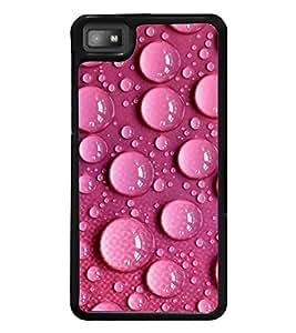 Water Droplets over Pink Pattern 2D Hard Polycarbonate Designer Back Case Cover for BlackBerry Z10
