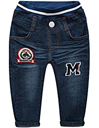 MG Kids Baby Boys' Jeans Denim Pants Toddler boys' Elastic Waistband Jeans Casual Demin Pants