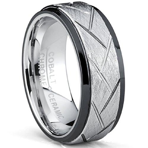 ultimate-metalsr-anello-di-fidanzamento-di-cobalto-e-ceramica-nera-fede-nuziale-di-cobalto-da-uomo