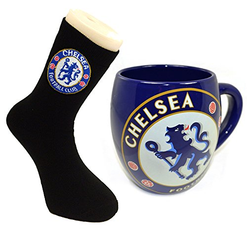 Offizielles Chelsea FC Tee Badewanne Tasse und Socken Combo -