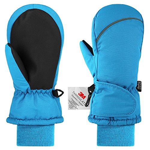 Fazitrip Kinderhandschuhe Fäustlinge Kinder Winddicht Handschuhe Jungen Mädchen (2-3 Y, Blau)