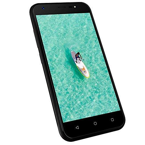 Smartphone Ohne vertrag 3G, Wieppo S5 Dual Sim Handys mit 5 Zoll HD 1280 * 720 Display, Kamera 8MP+5MP, 1GB RAM 8GB ROM, Android 7.0, 2400mAh Akku (Schwarz) (Dual-sim Amazon-handy)