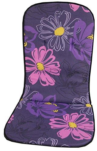 beo B023 Palma MH Monoblockauflage für hohe Stapelstühle, circa 41 x 89 cm, Stärke circa 2 cm