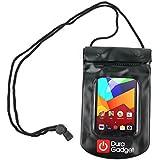 DURAGADGET Bolsa Sumergible En Agua Para BQ Aquaris E5 4G / E5 FHD / E5 HD 16GB 8GB / E4 / E4.5 / E4.5 Ubuntu Edition - Color Negro - Perfecta Para Playa Y Piscina