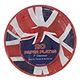 "PMS 20PK UNION JACK 7"" PAPER PLATE IN 24 PDQ"