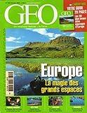 Géo n° 320 - octobre 2005 - Europe : la magie des grands espaces/Femmes mineurs en Espagne/São Tomé/Malaisie/Toulouse
