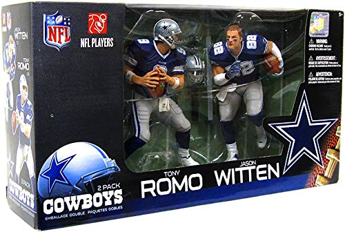 McFarlane Toys 2Stück DALLAS COWBOYS blau Jersey Tony Romo/Jason Witten Figuren Tony Romo Jersey