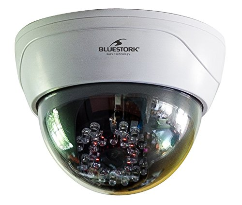 Bluestork BS-DUMYCAM/D - Cámara IP (Cámara IP Dome ficticia con LED)