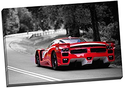 Ferrari FFX Black Red & White Racing Canvas Print Picture Wall Art Large 30x20 Inches