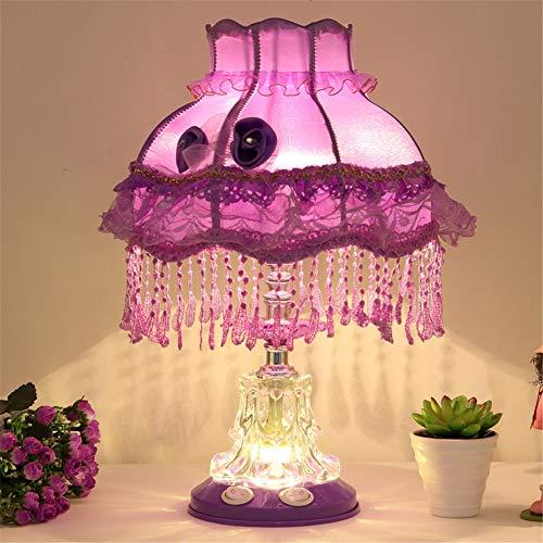Tischlampen Tuchkunst Harz Prinzessin Stil Schreibtisch E27 Nacht Lichter zum Dekoration Familienschlafzimmer Lesezimmer Wohnzimmer,Style-Five,Adjustable - Prinzessin Beistelltisch
