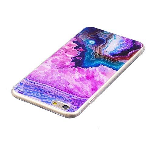 JAWSEU Coque Housse pour iPhone 6 Plus/6S Plus 5.5,iPhone 6S Plus Etui en Silicone Ultra Mince iPhone 6 Plus Coque Tpu Cristal Clair Romantique Élégant Beau Mer Coloré Motif Slim Fit Flexible Doux Cao violet rouge