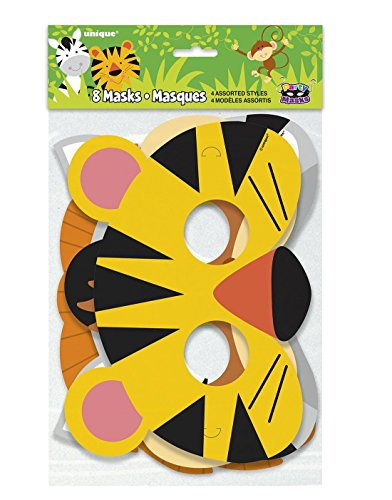 Islander Fashions Unisex Assorted Animal Jungle Party Maske von 8 Geburtstagsfeier Zubeh�r (Jungle Assorted)