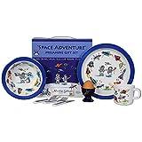 Martin Gulliver Designs Space Adventure Melamine Gift Set, Multi-Colour, 23 x 23 x 7 cm