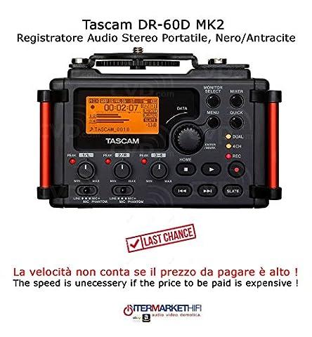 Tascam DR-60D MK2Enregistreur Audio stéréo portable, Noir/Anthracite