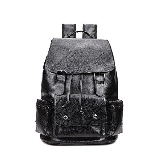 Herrenmode Rucksack Casual Student Hochleistungs-Computer Tasche,Black Black