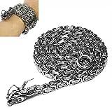 Wolfman Outdoor Voll Edelstahl Selbstverteidigung Buddha Perlen Halskette Ketten Hand Armband Kette (Voll Stahl Kette) …