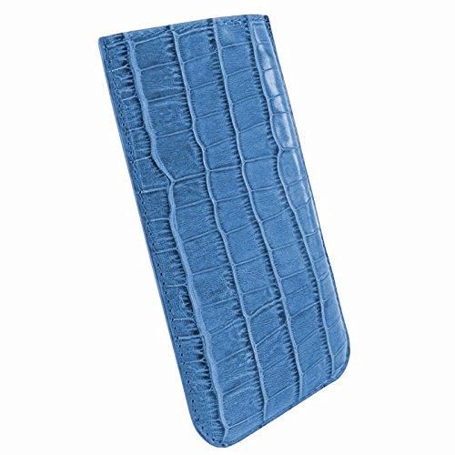 Piel Frama Pull Etui pour iPhone 6 Effet Crocodile Marron Crocodile Blue