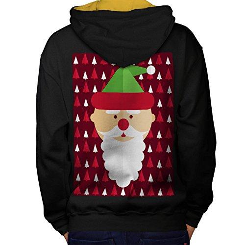 ich Cool Weihnachten Lustig Weihnachten Men S Kontrast Kapuzenpullover Zurück | Wellcoda (Niedliche Halloween-kostüm Ideen Für Schwestern)