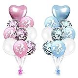 jingyuu 1 Satz Bunt Geburtstags Ballon Konfetti Luftballons Ballon Für Geburtstagsfeier Hochzeit Party Valentinstag Dekorationen