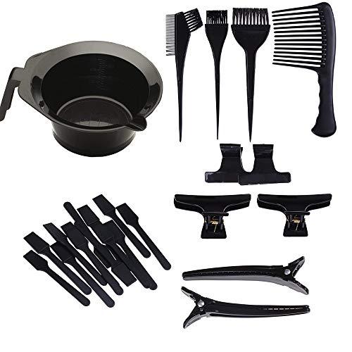 GeekerChip Haarfärbeset,haare faerben set, 23 Teile, Haartönungsschüssel, Bürste, Kamm, Haarklammer,Perfekt für Salon und Heimgebrauch.