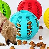 Altsommer Hundespielzeug Bälle,Kauspielzeug Hundespielzeug aus Silikon,Doggy Brushing Stick mit Verschiedene Größen,Spielzeug für Hunde Langlebig, Durchmesser S5cm,M: 7cm,Rot,Blau (Hellblau M)